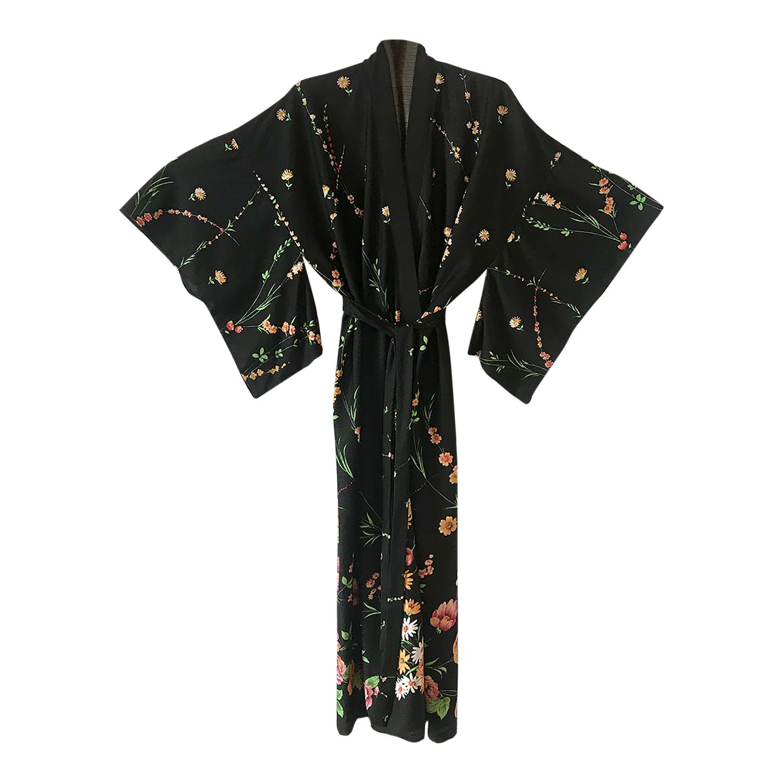 Robe kimono à fleurs