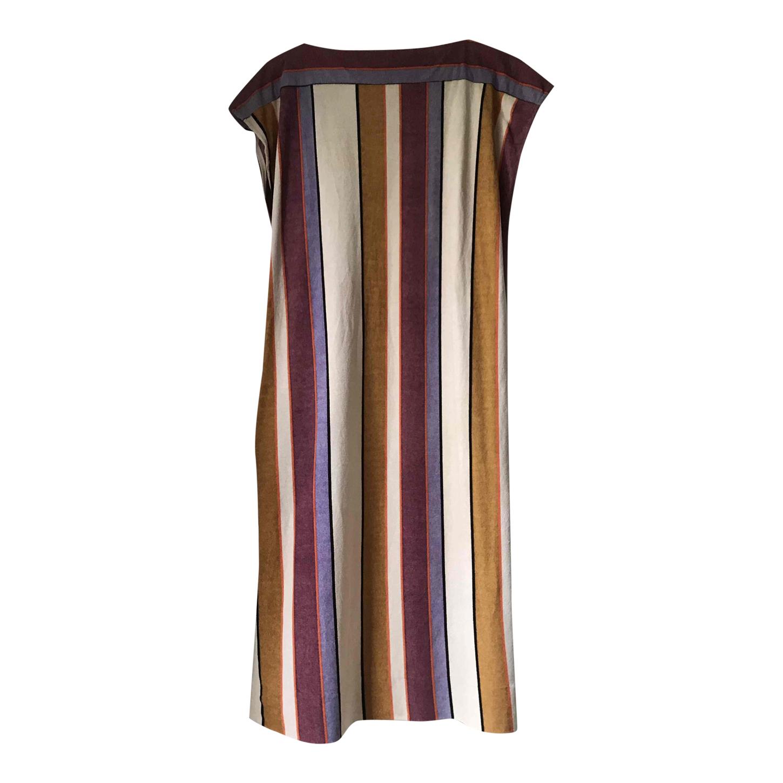 Robe longue à rayures