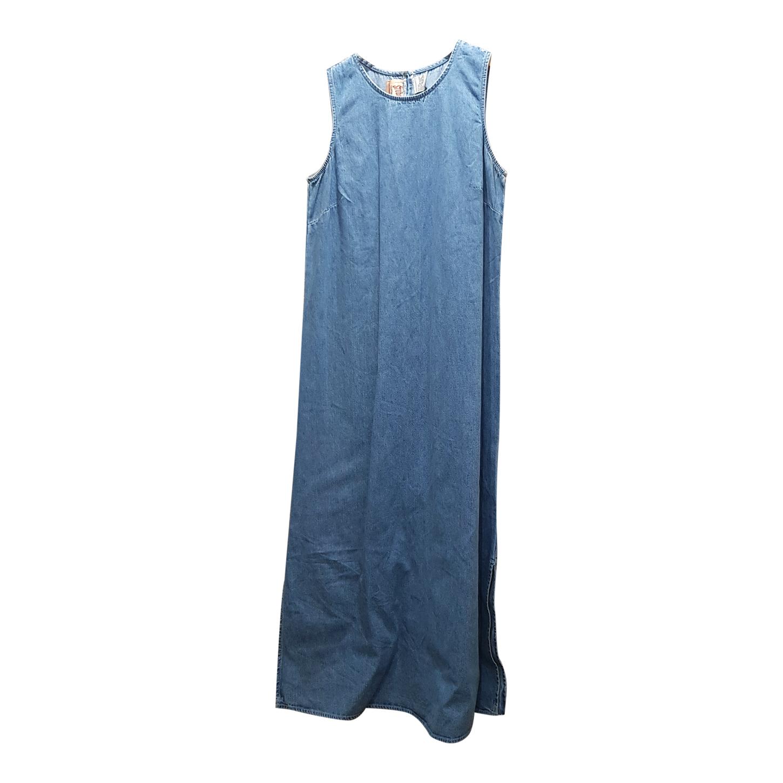 Robe longue en jean