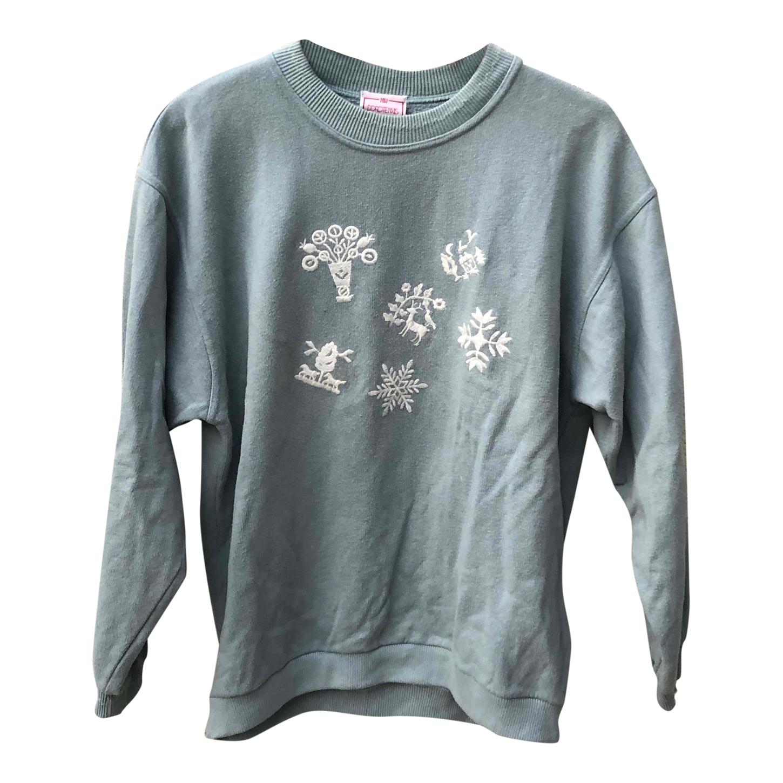 Sweat-shirt en coton brodé