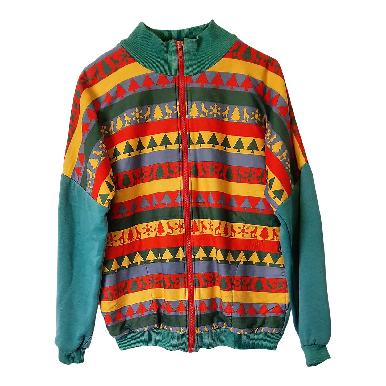 Sweat-shirt zippé 80's