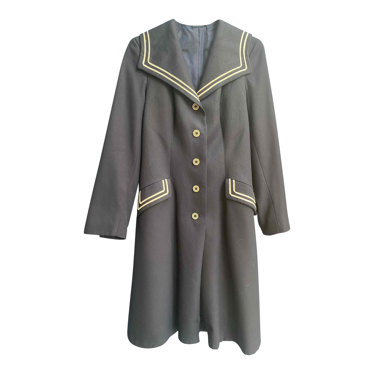 Trench marin en laine