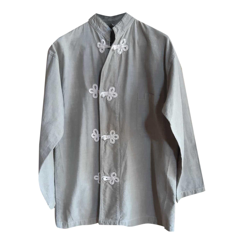 Veste chinoise en lin et coton