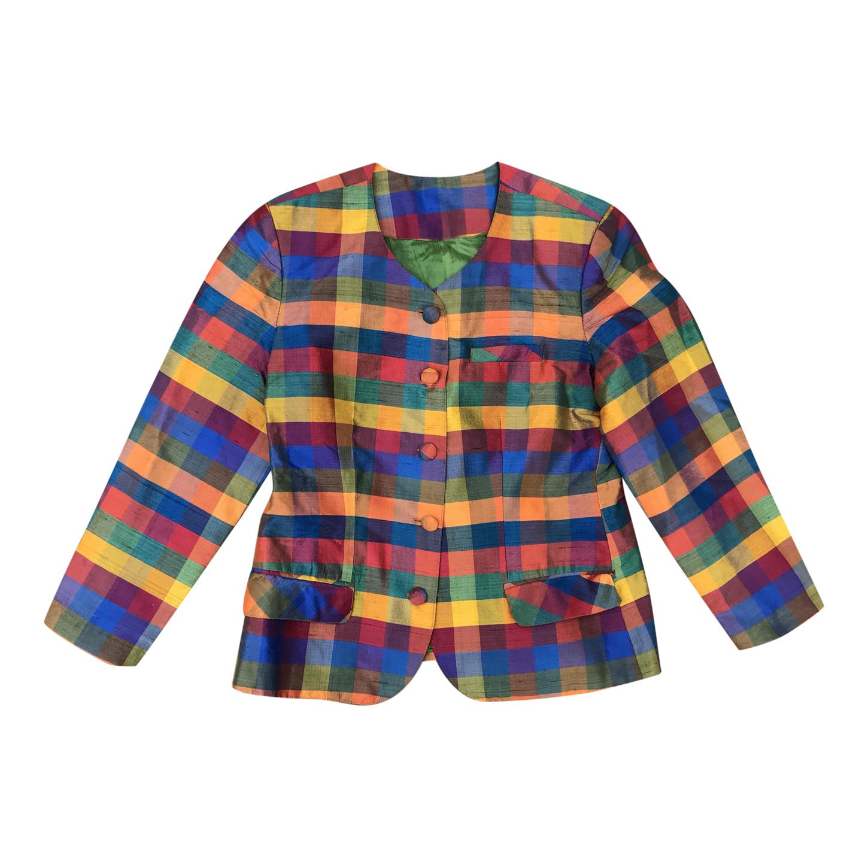 Veste en soie multicolore