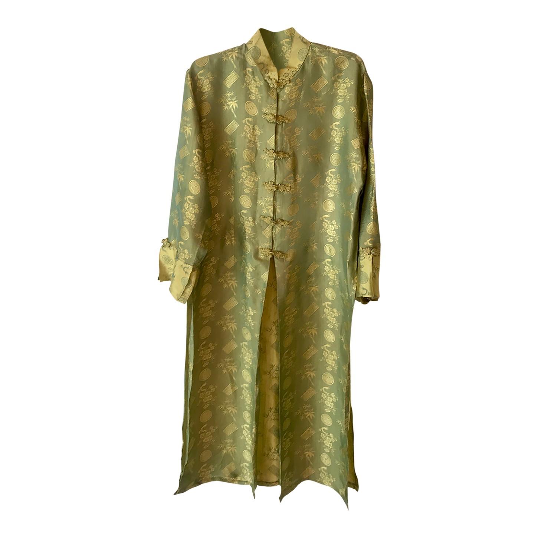 Veste longue asiatique en soie