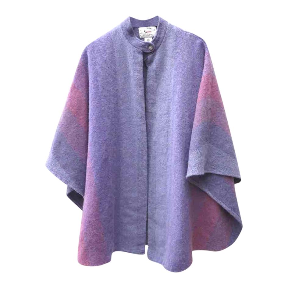Veste poncho en laine