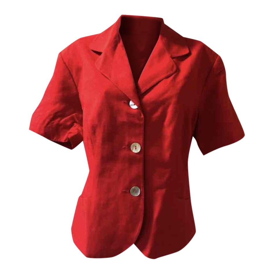 Veste rouge 90s