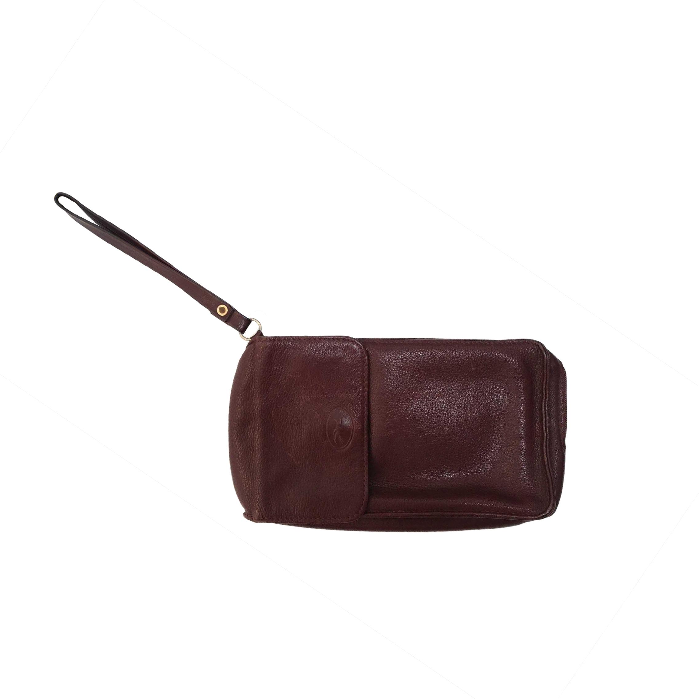 Pochette en cuir Longchamp
