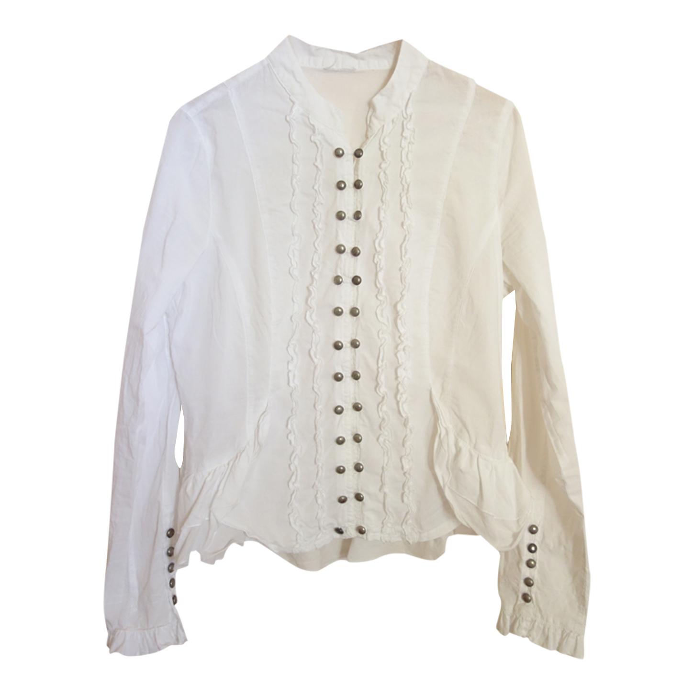 Blouse blanche en coton