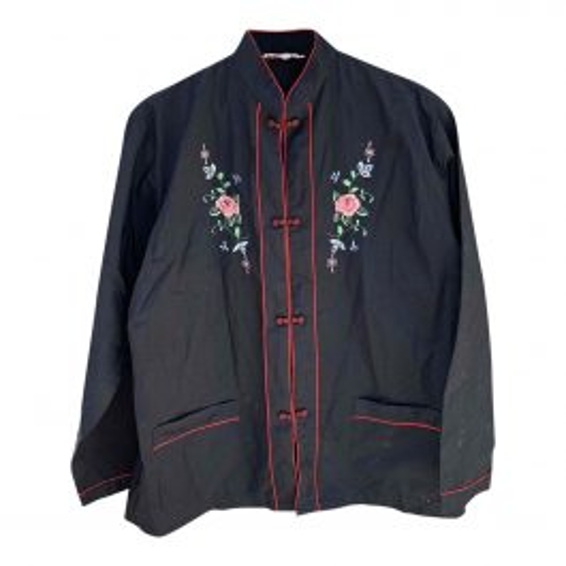 Blouse chinoise à fleurs