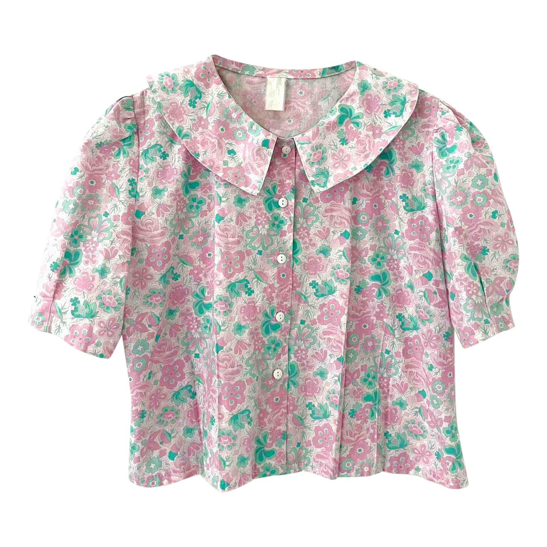 Blouse en coton à fleurs