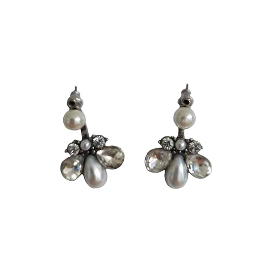 Boucles d'oreilles à perles et strass