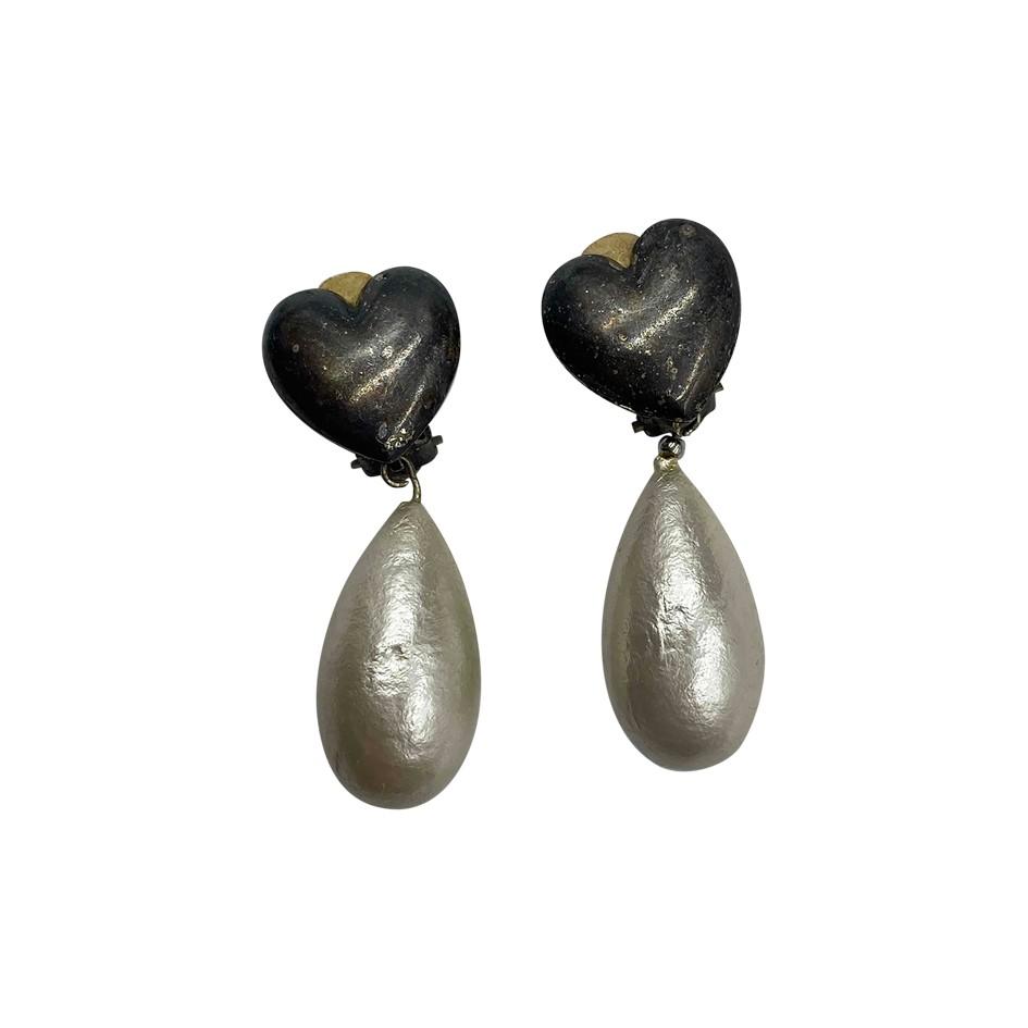 Boucles d'oreilles perles et coeurs