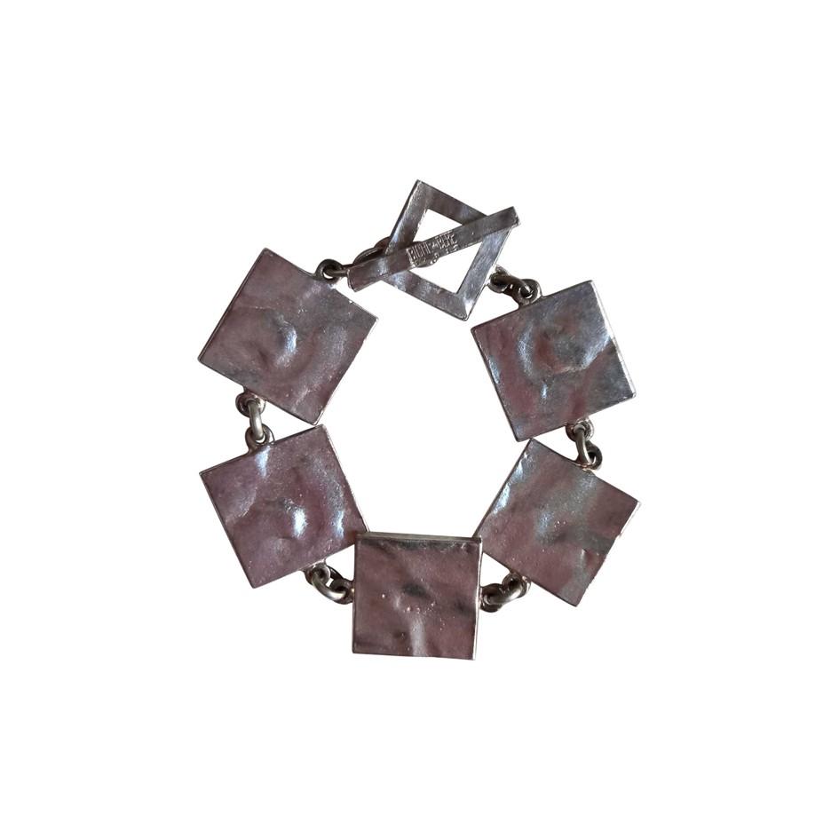 Bracelet en métal argenté