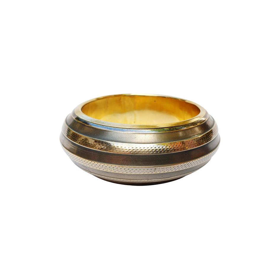 Bracelet manchette en métal doré