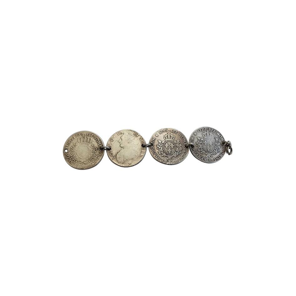 Bracelet pièces en argent