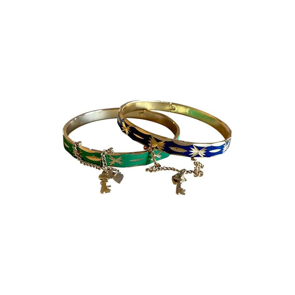 Bracelets joncs 70s