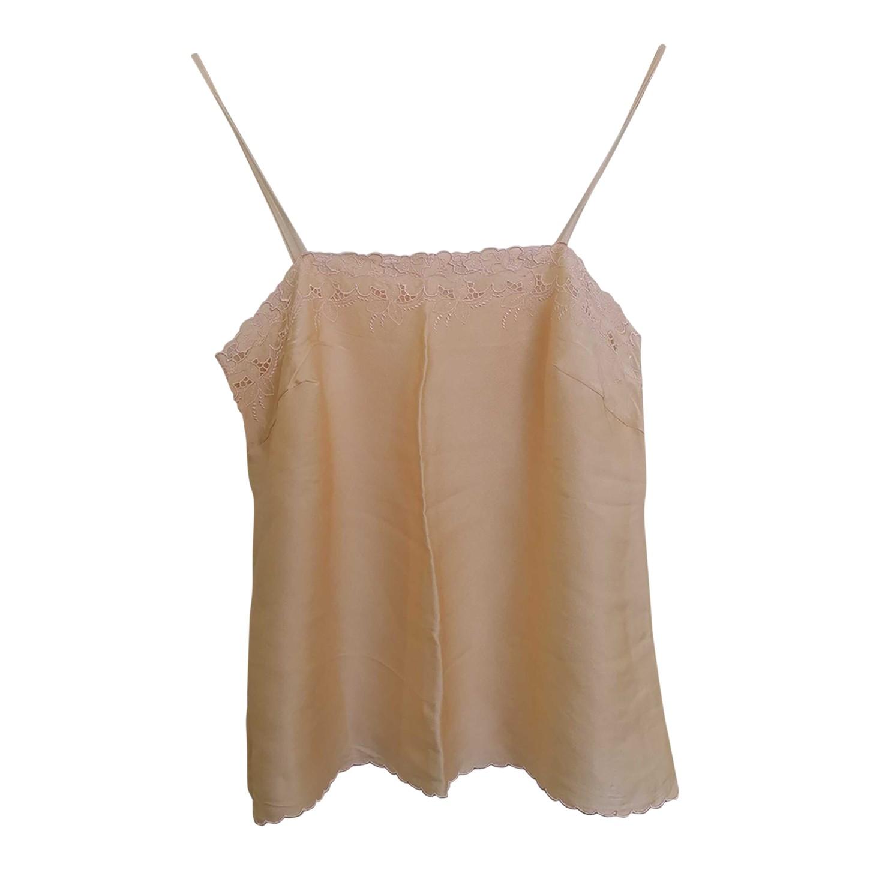 Caraco en soie brodée
