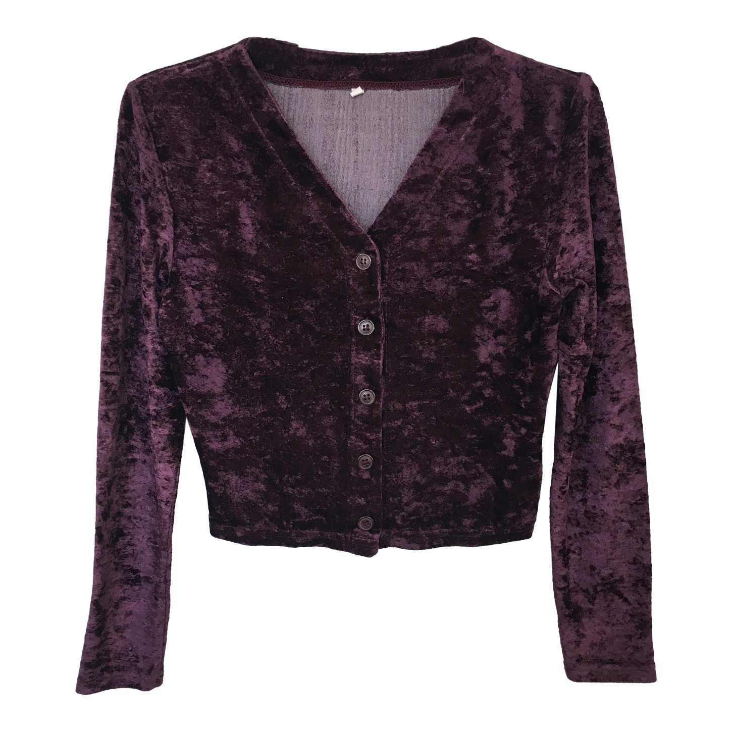 Cardigan court en velours