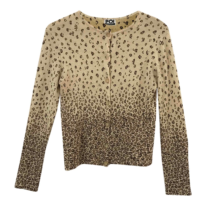 Cardigan léopard en angora