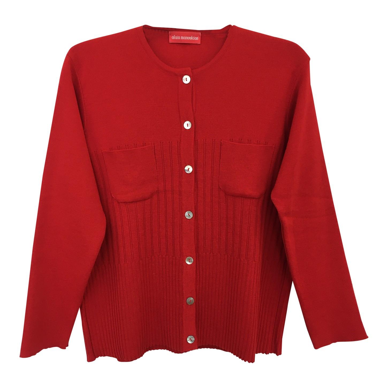 Cardigan rouge