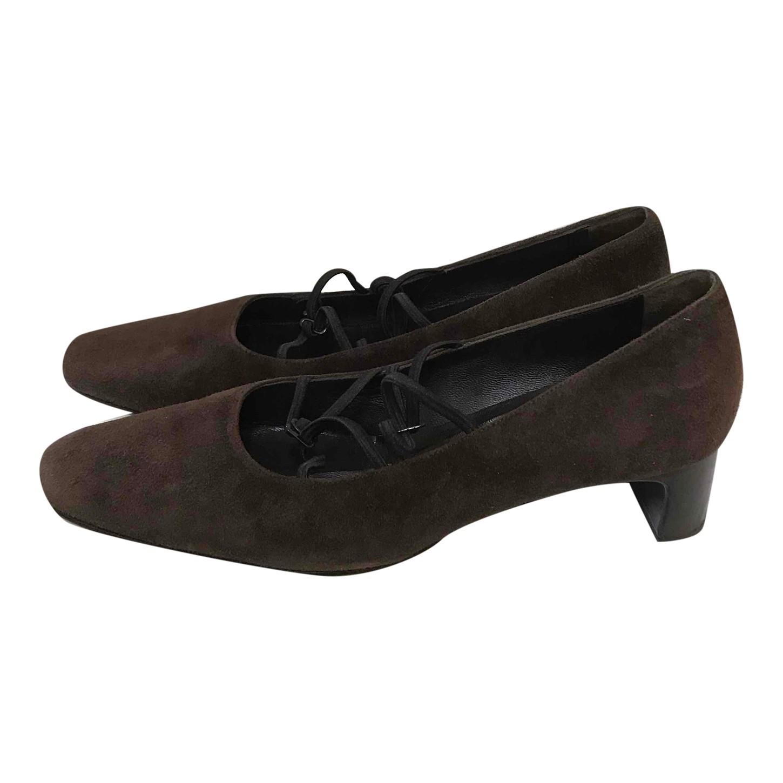 Chaussures Carel en cuir velours