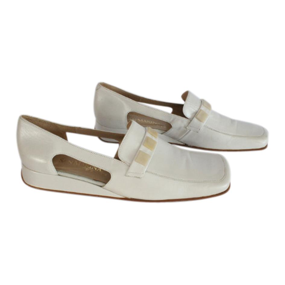 Chaussures en cuir ajouré