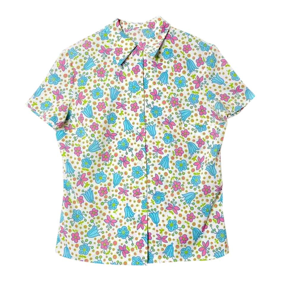 Chemise à fleurs 70s
