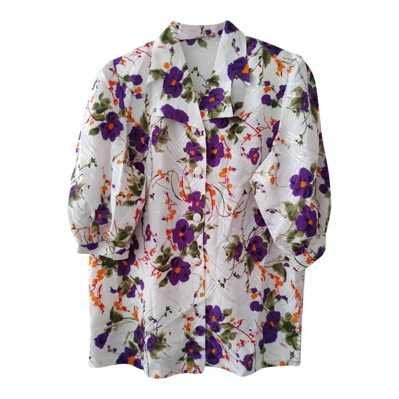 Chemise à fleurs satinée
