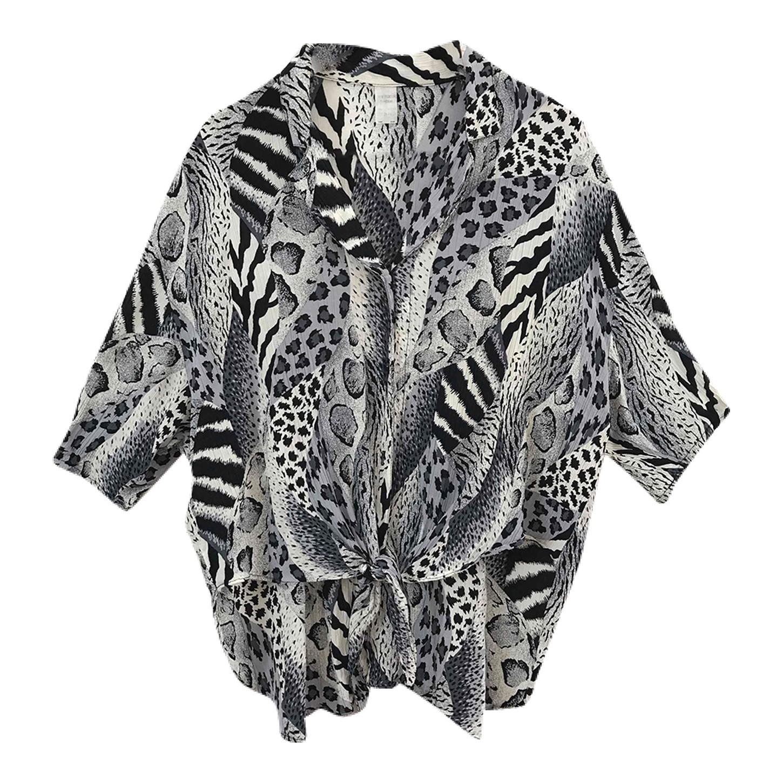 Chemise ample léopard