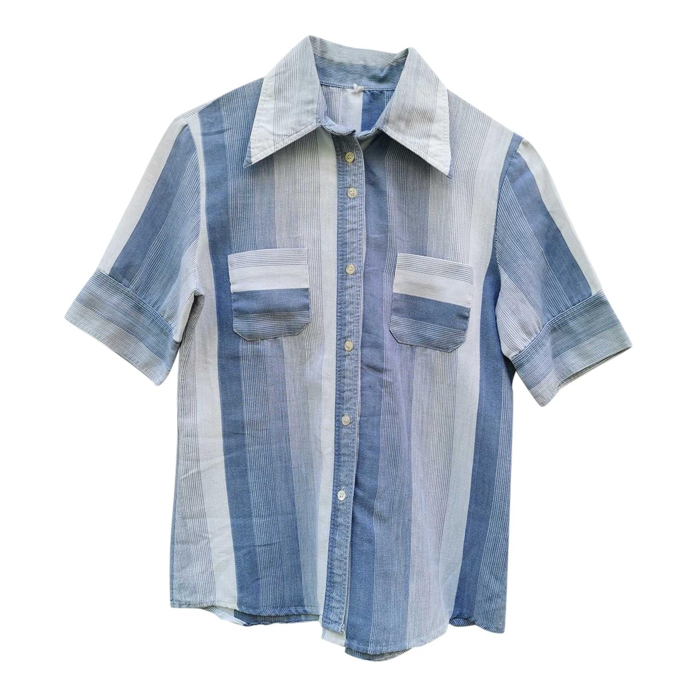 Chemise en coton à rayures