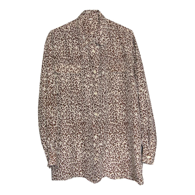 Chemise léopard en soie