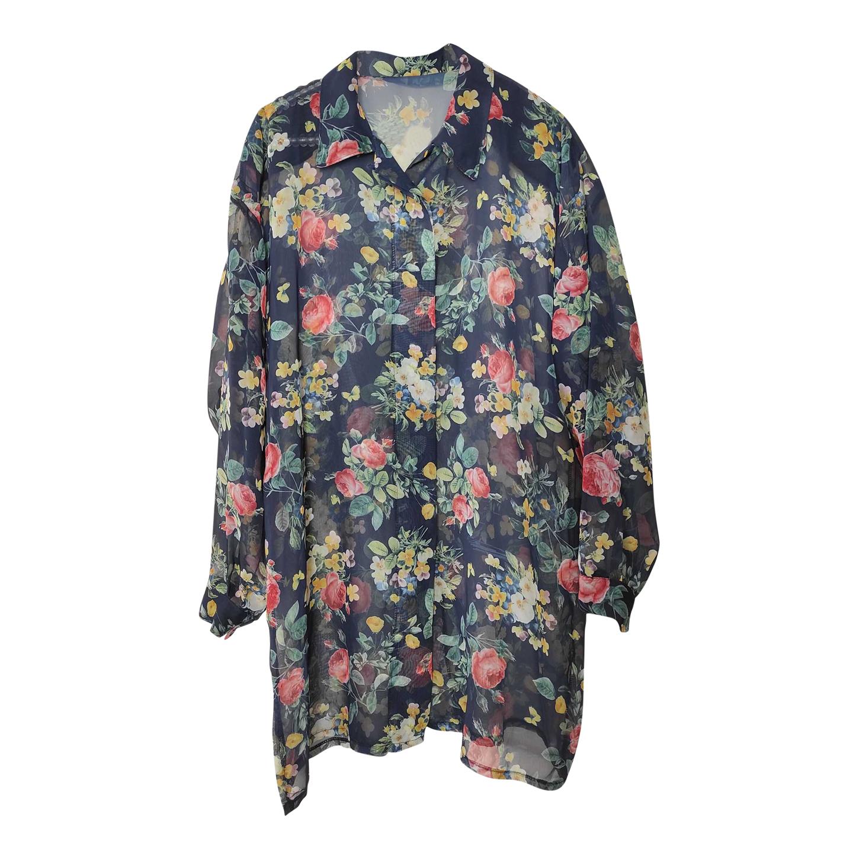 Chemise longue à fleurs
