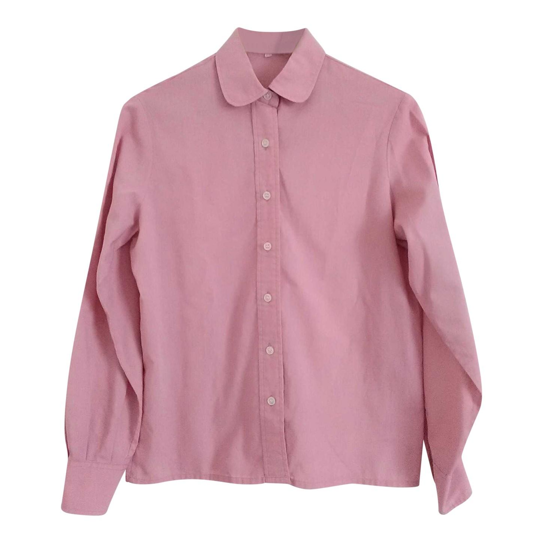 Chemise rose en coton