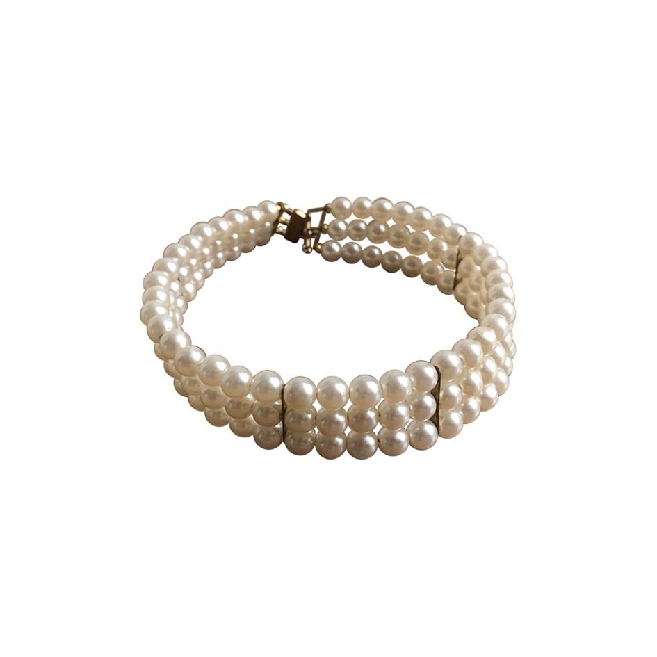 Collier ras-de-cou en perles