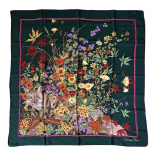 Foulard Christian Dior en mousseline de soie