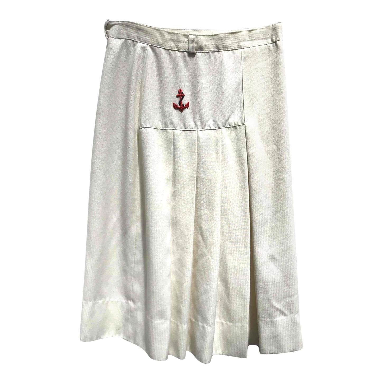 Jupe plissée en coton