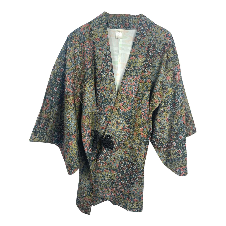 Kimono court à fleurs