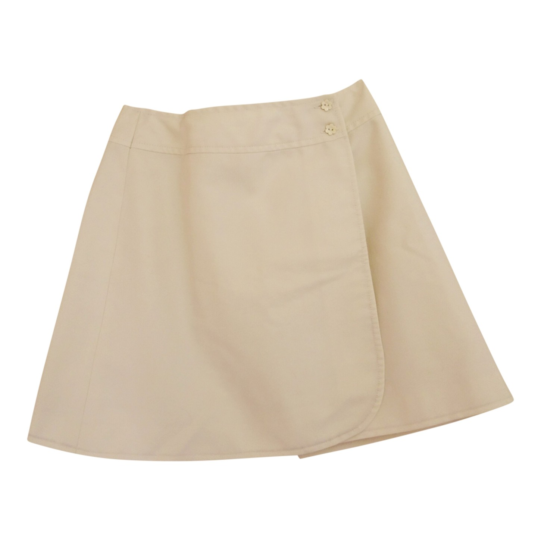 Mini jupe portefeuille plissée