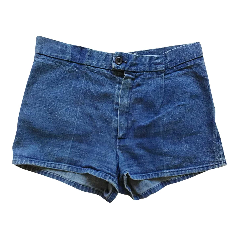 Mini short en jean brodé