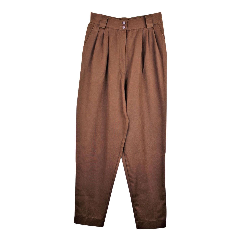 Pantalon à pinces chocolat