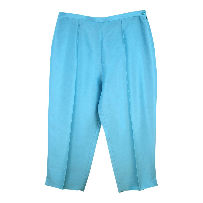 Pantalon court satiné