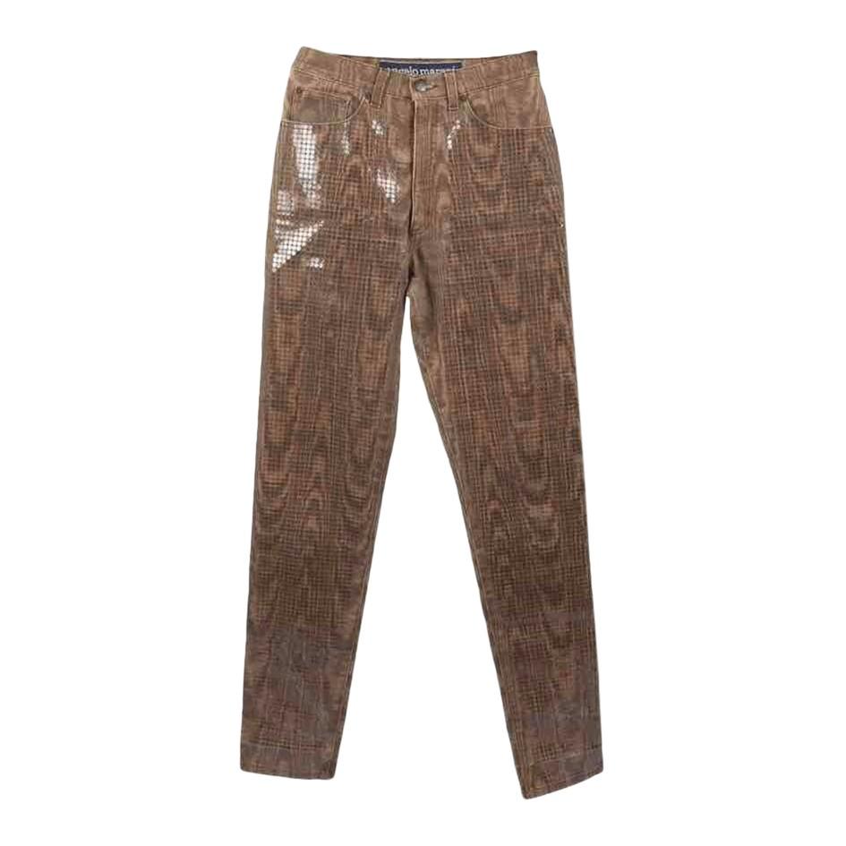 Pantalon droit brillant