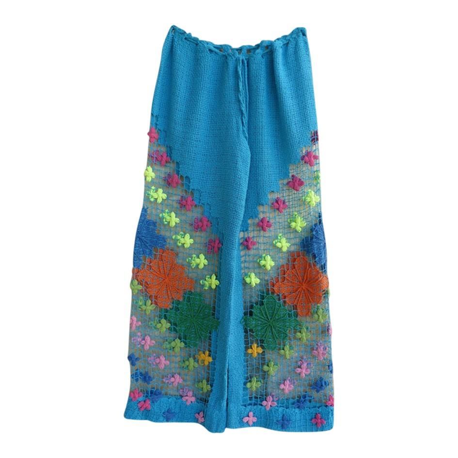 Pantalon en crochet