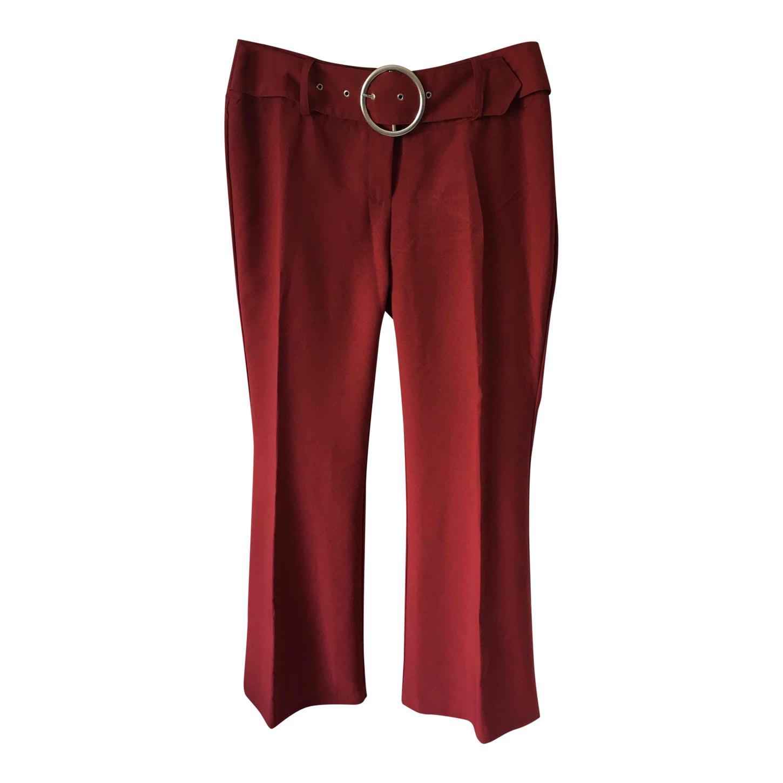 Pantalon flare ceinturé