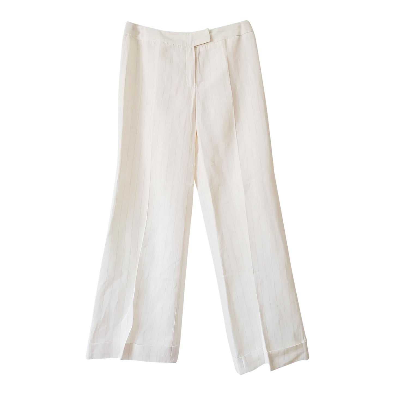 Pantalon flare en lin
