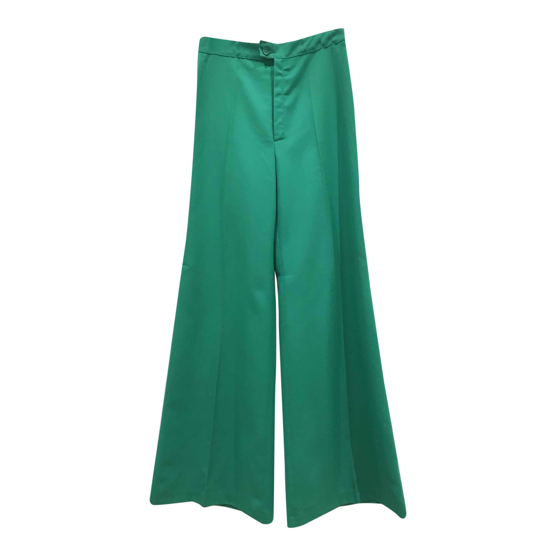 Pantalon flare vert