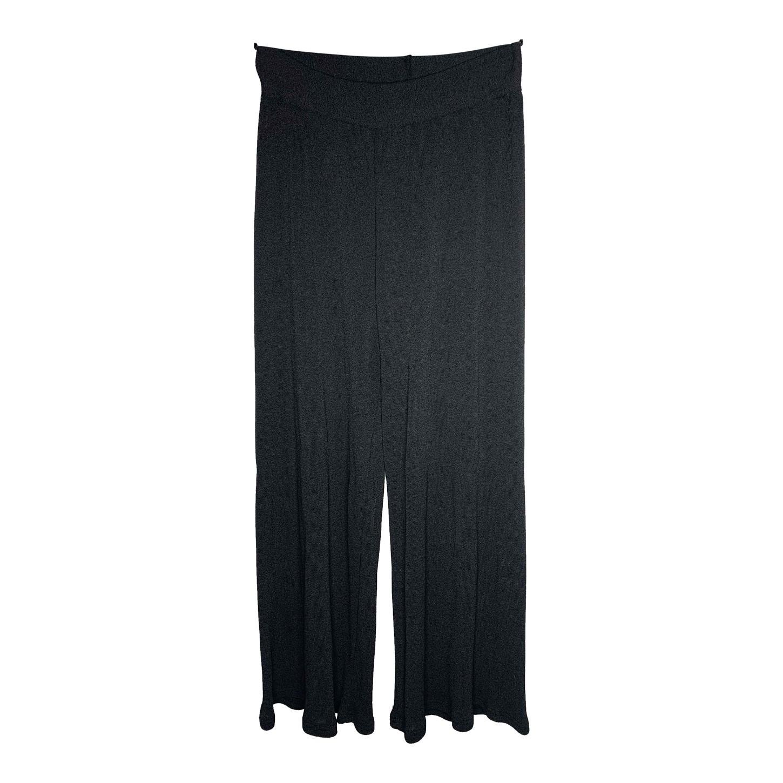 Pantalon fluide gris foncé