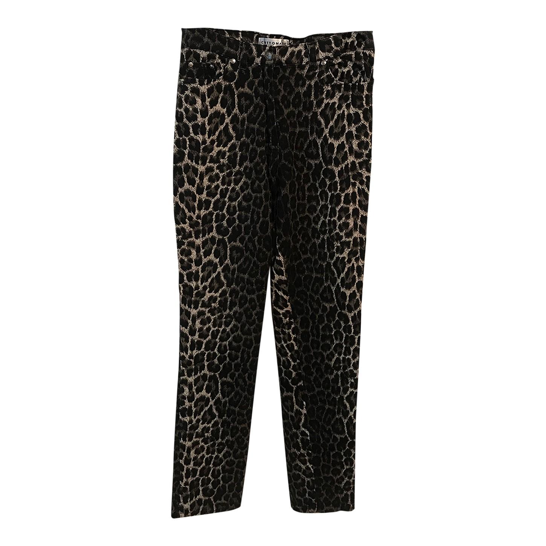 Pantalon taille haute léopard