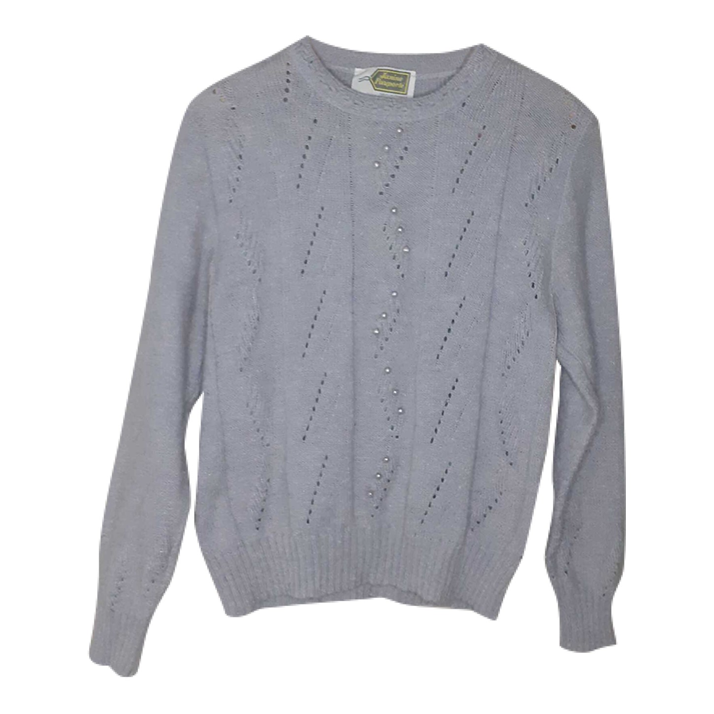 Pull en maille lilas